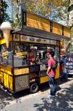 NYC: Βελγικό truck τροφίμων βαφλών Στοκ Εικόνα