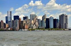 NYC:  Ορίζοντας του Λόουερ Μανχάταν Στοκ Φωτογραφία