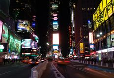 nyc τετραγωνικοί χρόνοι στοκ εικόνες