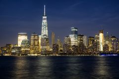 NYC τη νύχτα στοκ εικόνες