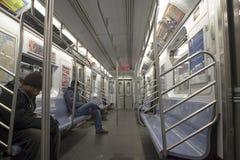 nyc υπόγειο τρένο Στοκ Εικόνες