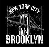 NYC Бруклин бесплатная иллюстрация