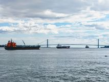 NYC к острову Staten стоковые фото