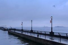 NYC - The quays of Battery Park Стоковое Изображение RF