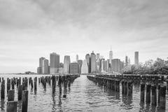 NYC от парка Бруклинского моста Стоковые Изображения RF