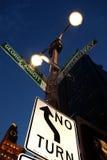 nyc подписывает улицу Стоковое фото RF