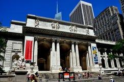 NYC: Публичная библиотека Нью-Йорка Стоковая Фотография