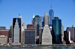 NYC: Финансовые башни района стоковые фото