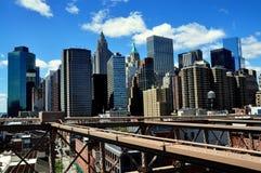 NYC: Финансовый горизонт района Стоковые Фотографии RF