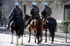 NYC登上的警察 免版税库存照片