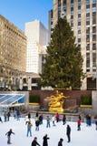 NYC洛克菲勒中心圣诞节 免版税库存图片
