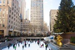 NYC洛克菲勒中心圣诞节 库存图片