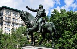 NYC :乔治・华盛顿骑马雕象  免版税库存图片