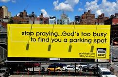 NYC :停车场标志 图库摄影