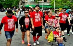 NYC :艾滋病步行2014步行者 图库摄影