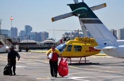 NYC :西部第30个街道直升机场 库存图片