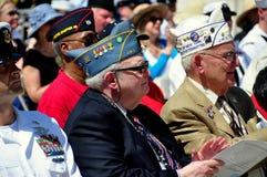 NYC :阵亡将士纪念日仪式的退役军人 免版税库存图片
