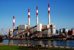 NYC :骗局爱迪生能源厂 免版税库存图片