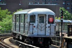 NYC: #1 Subway MTA Subway Train Stock Photography
