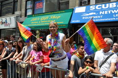 NYC:  2010 Gay Pride Parade Royalty Free Stock Photos