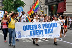 NYC:  2010 Gay Pride Parade Royalty Free Stock Images