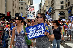 NYC: 2011 Gay Pride Parade Marchers Royalty Free Stock Photos