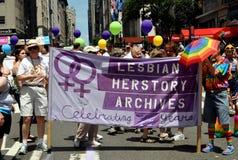 NYC: 2012 de Vrolijke Parade van de Trots Stock Foto's