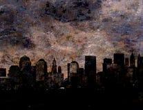 NYC. Heavy visual texture painting of New York City Royalty Free Stock Photos