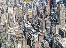 NYC from above. New York City, USA - May 20, 2014: Partial View of Manhattan from above Stock Images