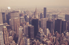 NYC from above toned Royalty Free Stock Photography