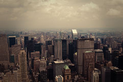 NYC from above toned Stock Image