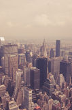 NYC from above toned Stock Images