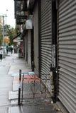NYC Abschalten --Hurrikan Sandy Stockbild