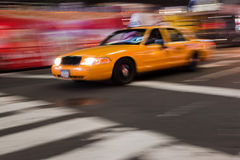 nyc abstrakcjonistyczny taxi Zdjęcie Royalty Free