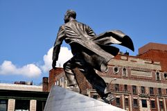 NYC: Adam Clayton Powell, jr. statue Stockfotografie