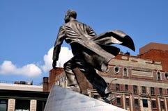 NYC: Adam Clayton Powell Jr staty Arkivbild