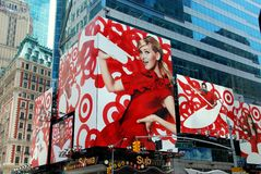 NYC: Advertising Billboards in Times Square Stock Images