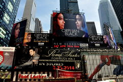 NYC: Advertising Billboards in Times Square Stock Photo