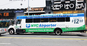 NYC Airporter Imagem de Stock Royalty Free