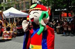NYC: Aktör på den taiwanesiska festivalen Arkivbild