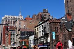 NYC: Allee der Amerika-Gebäude Stockfoto
