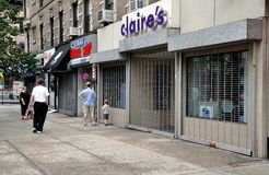 NYC: Almacenes Shuttered debido al huracán Fotos de archivo libres de regalías