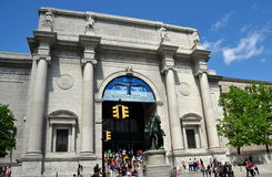 NYC: American Museum of Natural History. The imposing classical east front of the American Museum of Natural History with its Theodore Roosevelt equestrian Stock Photo