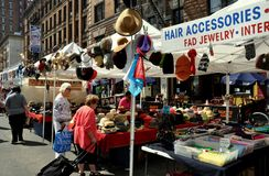 NYC: Amsterdam Avenue Street Festival Booths Royalty Free Stock Photos
