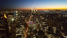 NYC angesehen vom Empire State Building, 59. Stock Stockfoto