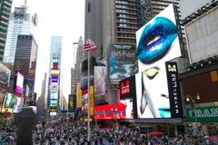 NYC, annonces de Times Square Photographie stock