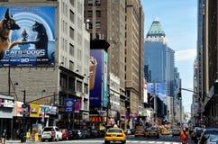 NYC: Ansicht der achten Allee Stockfotos