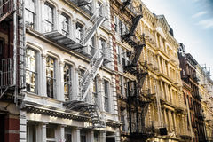 NYC Apartment Building Facade Royalty Free Stock Photo