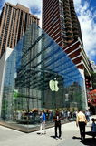NYC:  Apple Store on Broadway Royalty Free Stock Photography