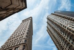 NYC architecture skycrapers Flatiron Stock Photography
